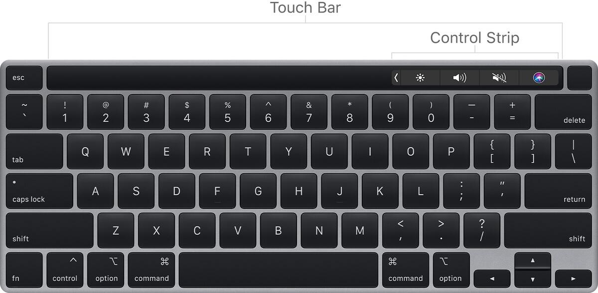 MacBook Touch Bar New