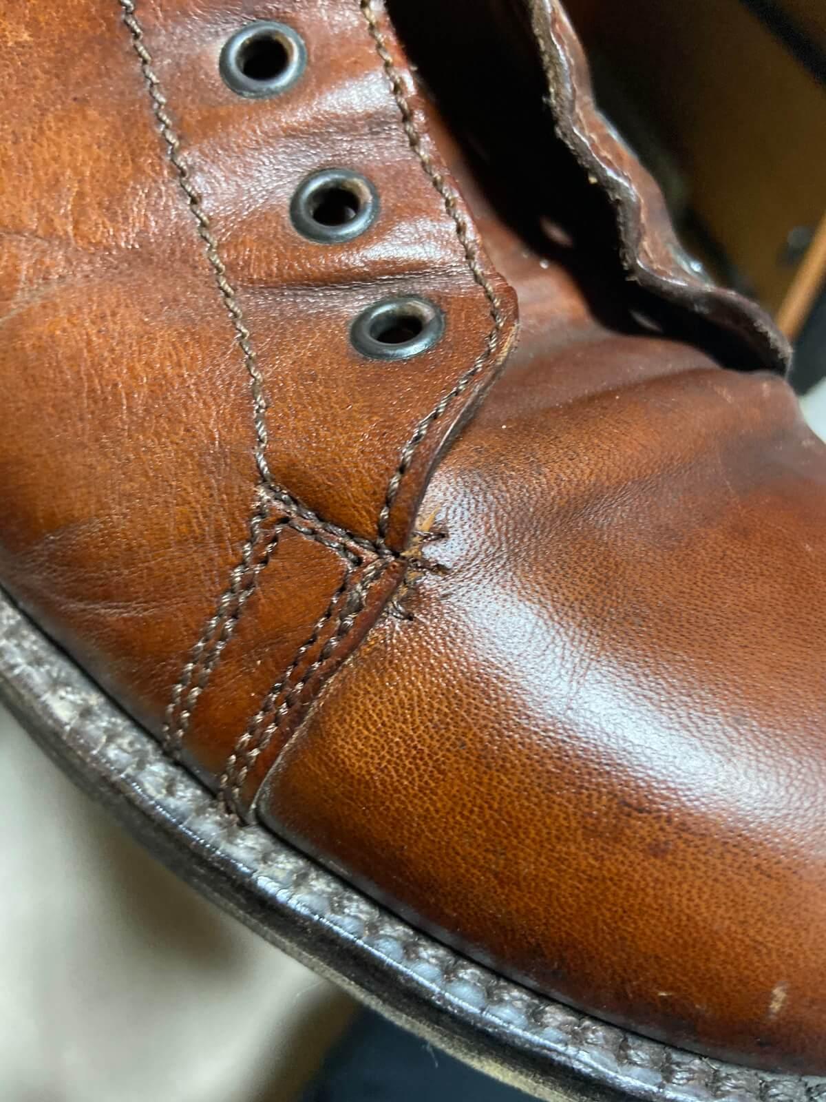 【革靴の破れを修理】修理品の紹介