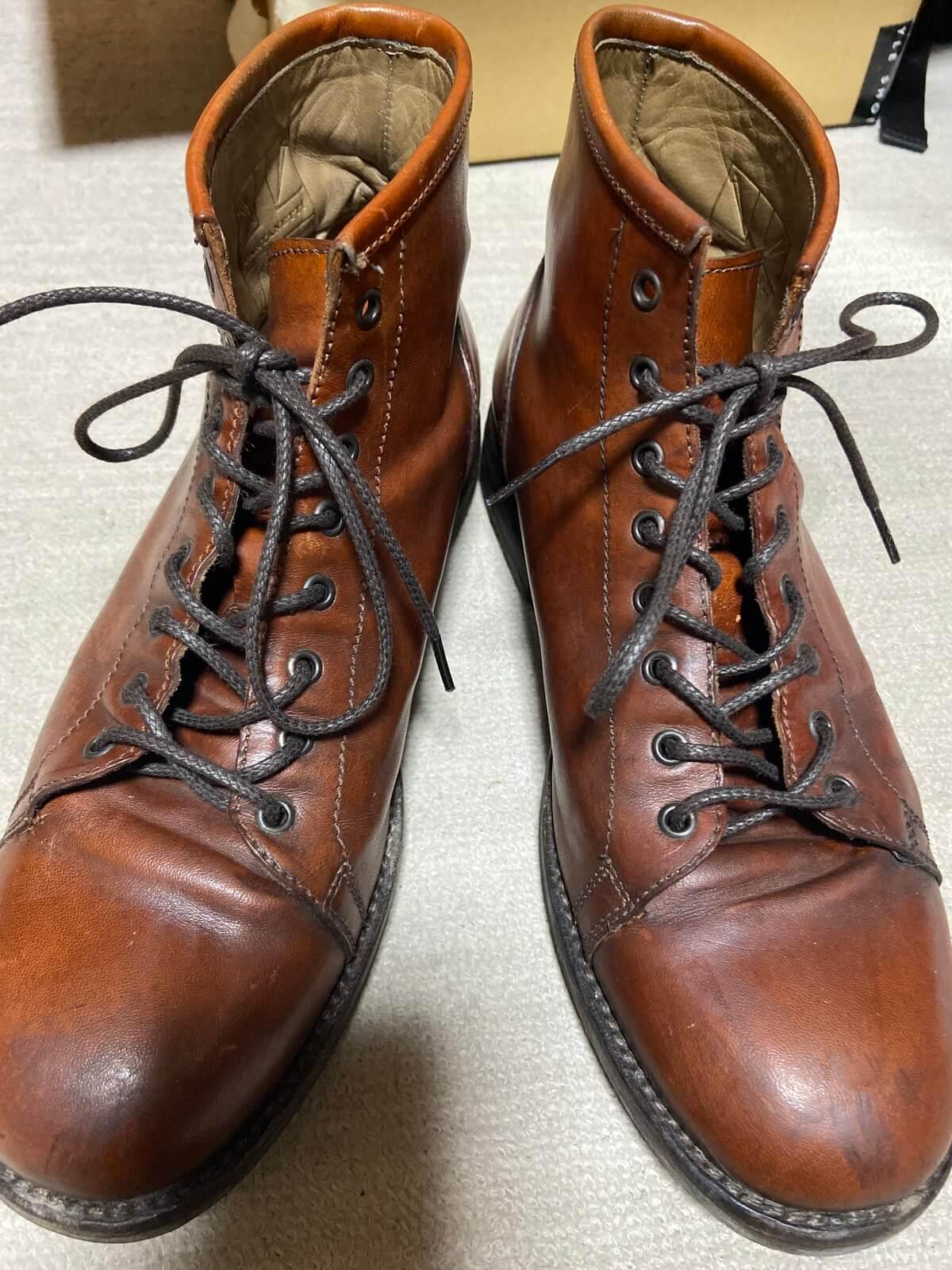【革靴の破れを修理】余談