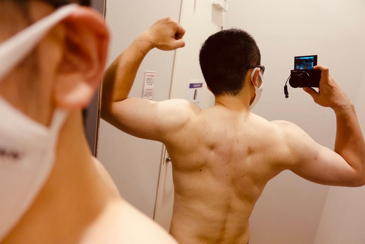 【ダイエット1週目】体型背面