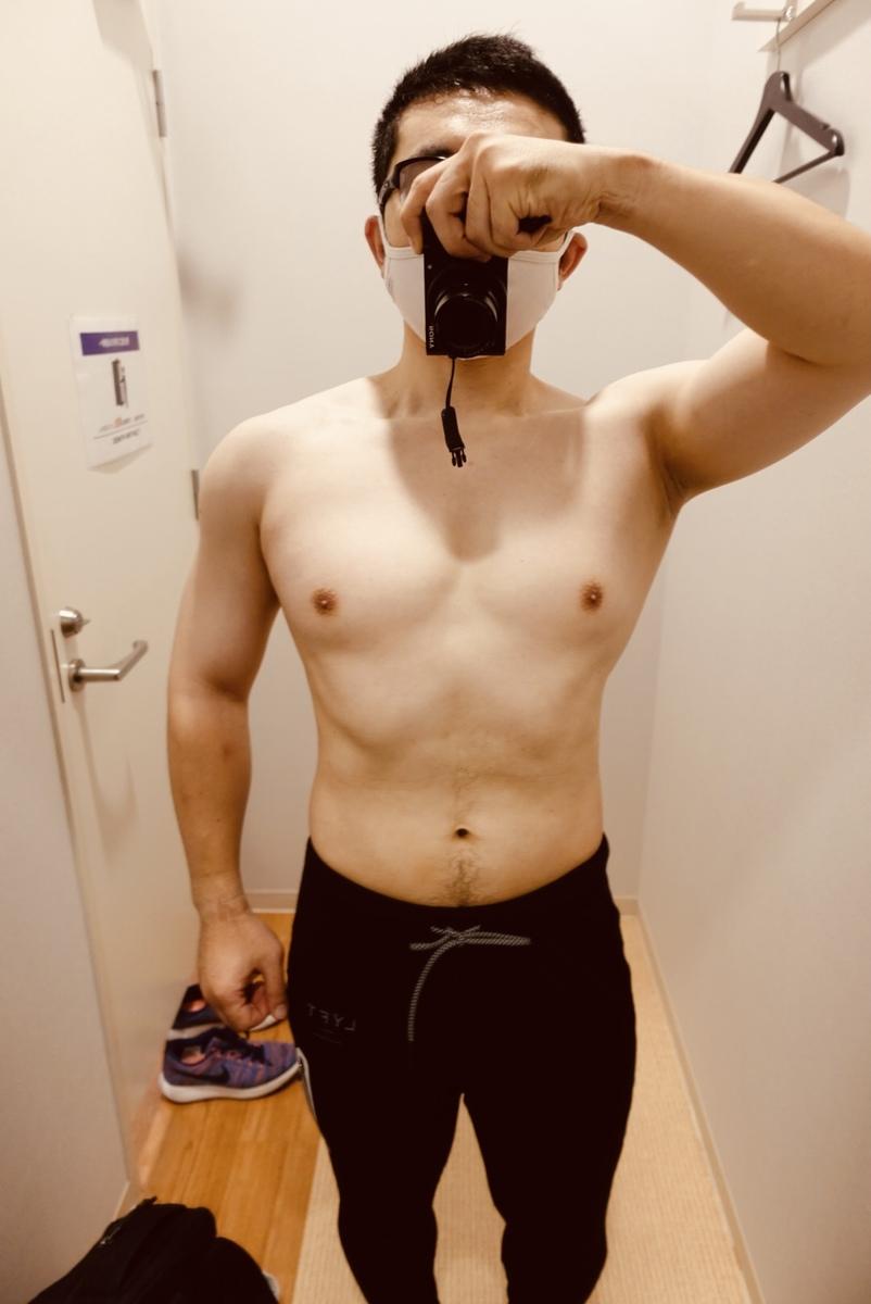 【ダイエット3週目】体型正面