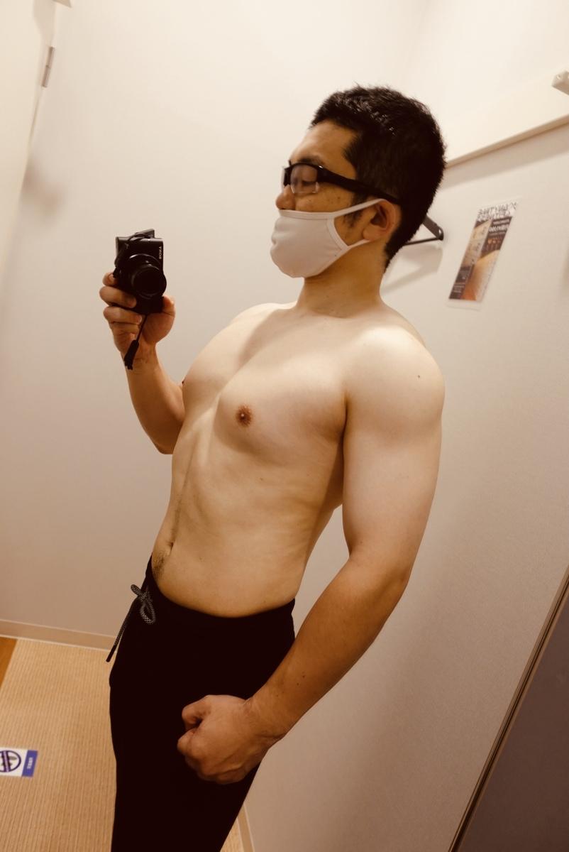 【ダイエット3週目】体型側面
