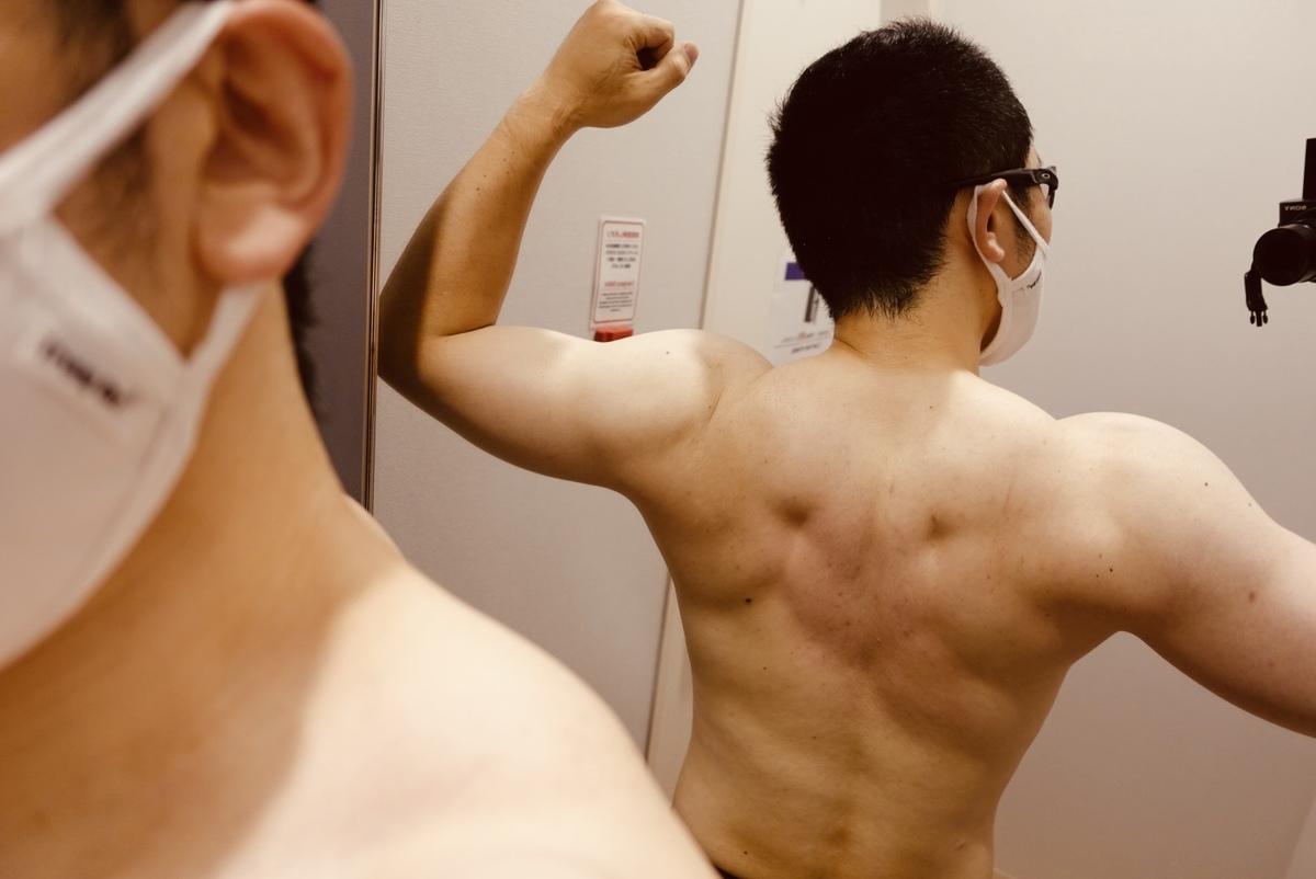 【ダイエット3週目】体型背面