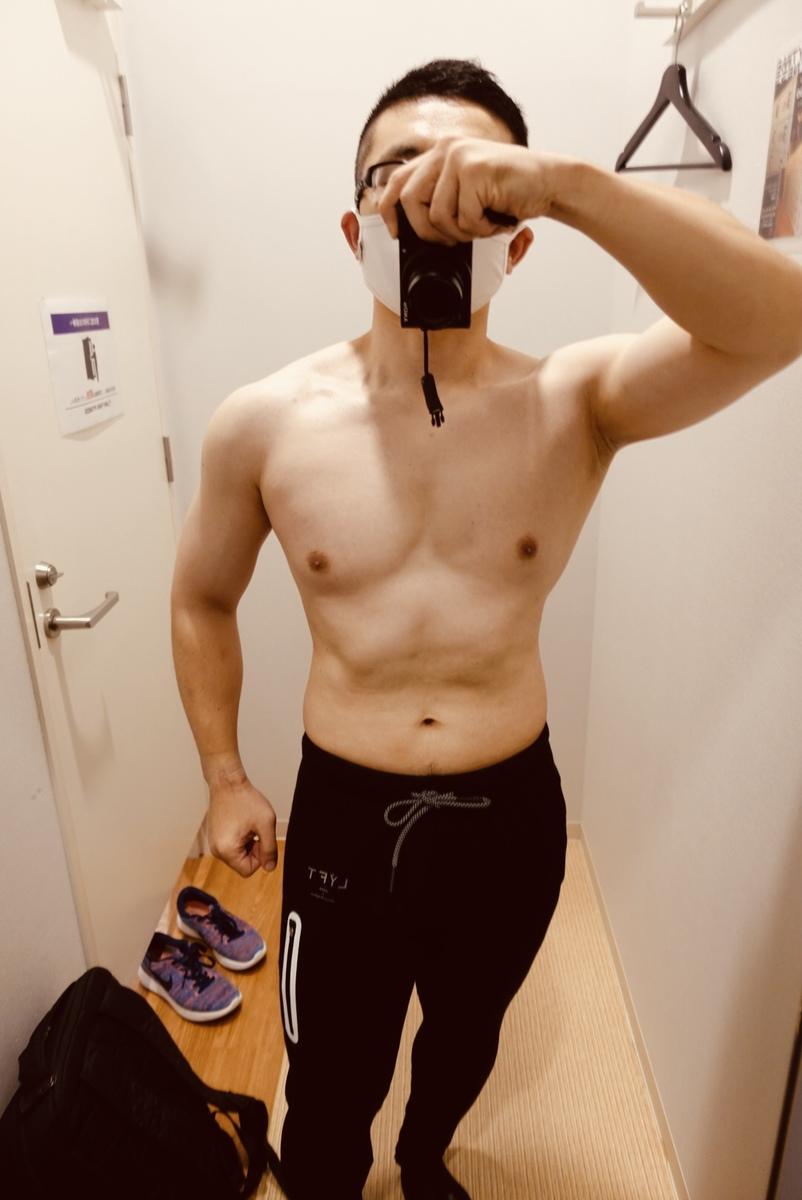 【ダイエット最終週】体型正面