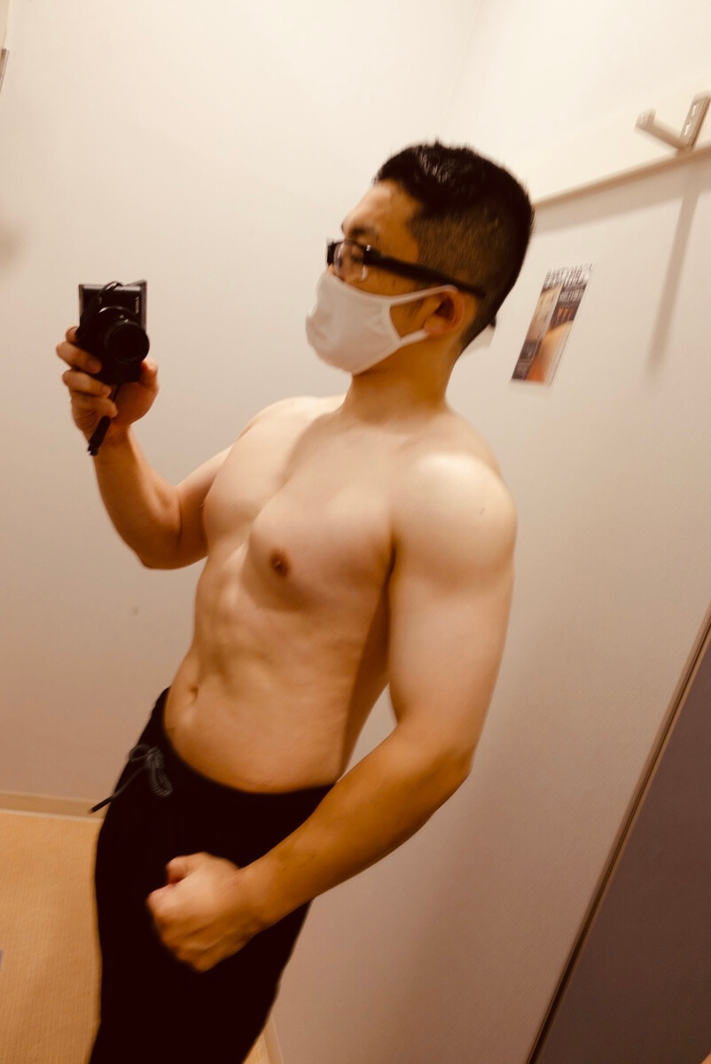【ダイエット最終週】体型側面