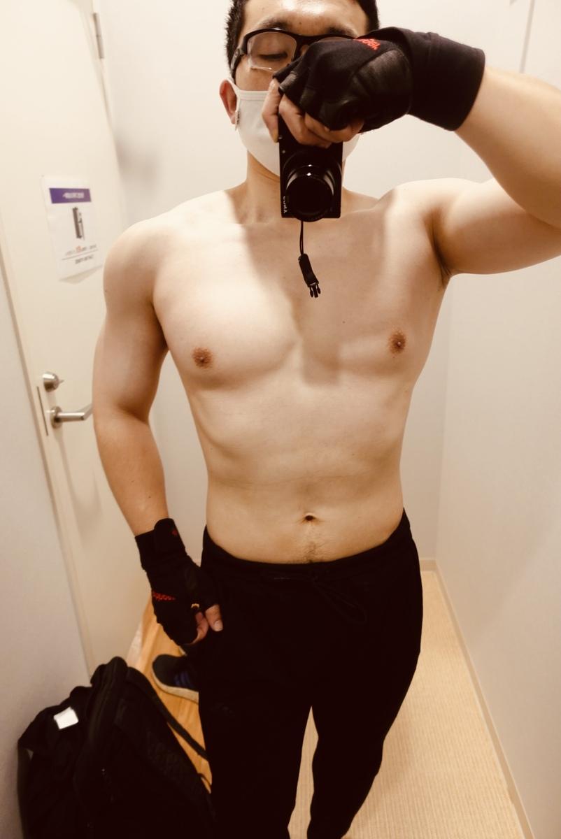 【ボディメイク第1週目】体型正面