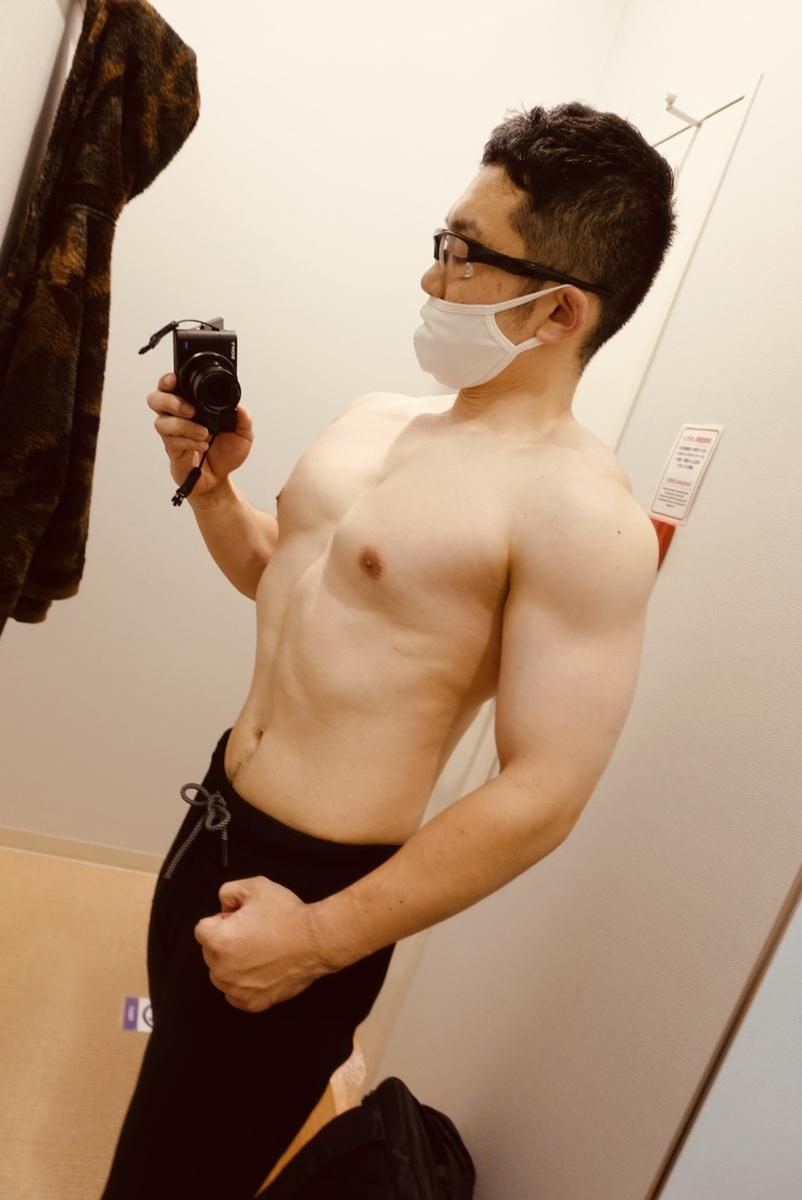 【ボディメイク3週目】体型側面
