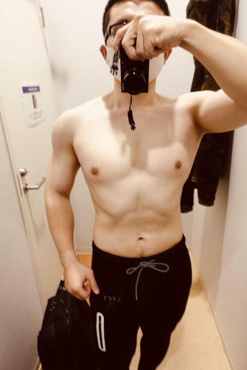 【ボディメイク4週目】体型正面