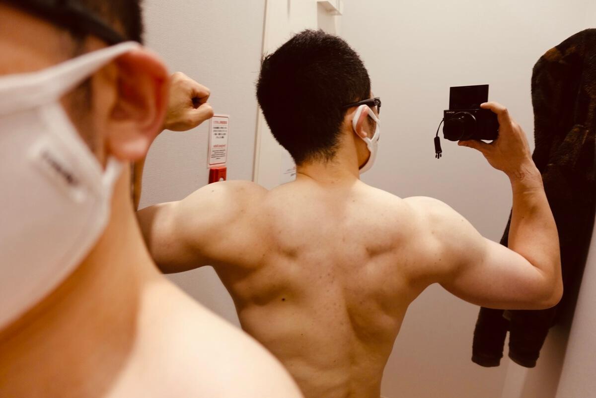 【ボディメイク4週目】体型背面