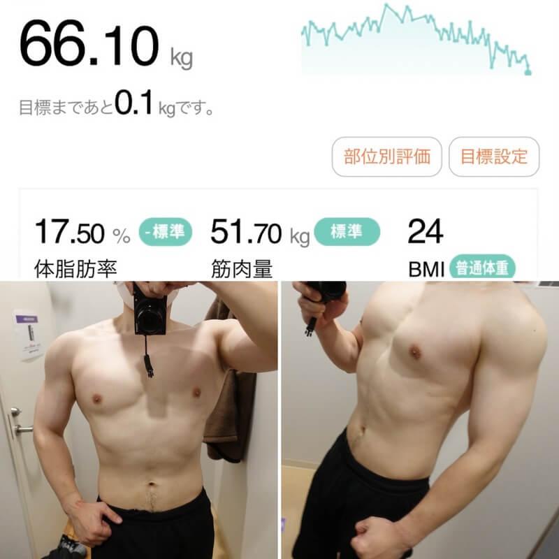 MUASHIダイエット4週目