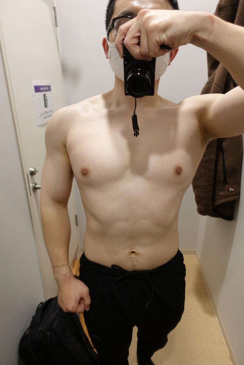 【ボディメイク第3週】体型正面
