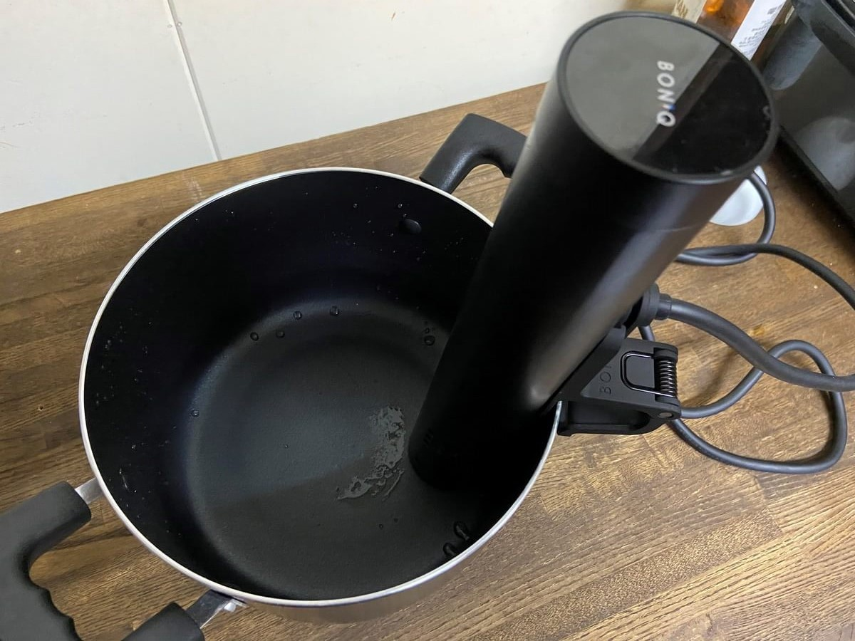 鍋にボニークを取付