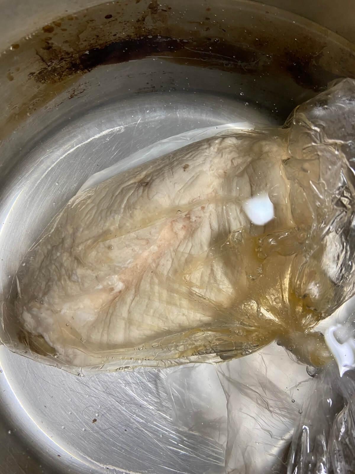 アイラップ(鶏むね肉)の調理完了