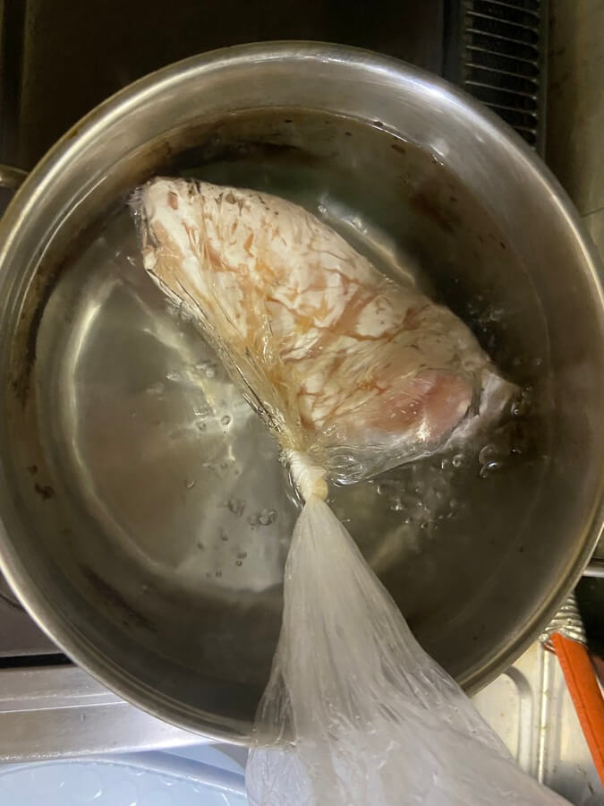 アイラップ(鶏むね肉)を放置