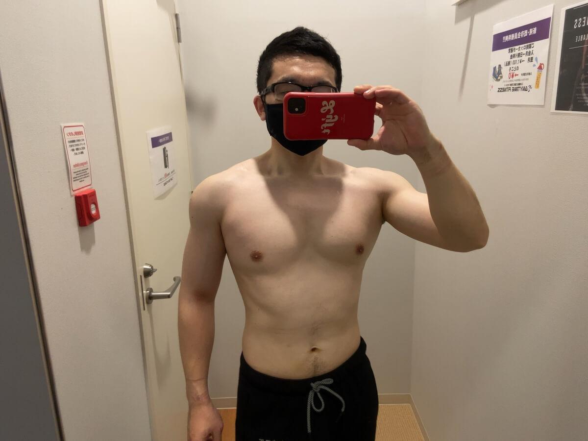 HIITダイエット6週目の体型写真正面
