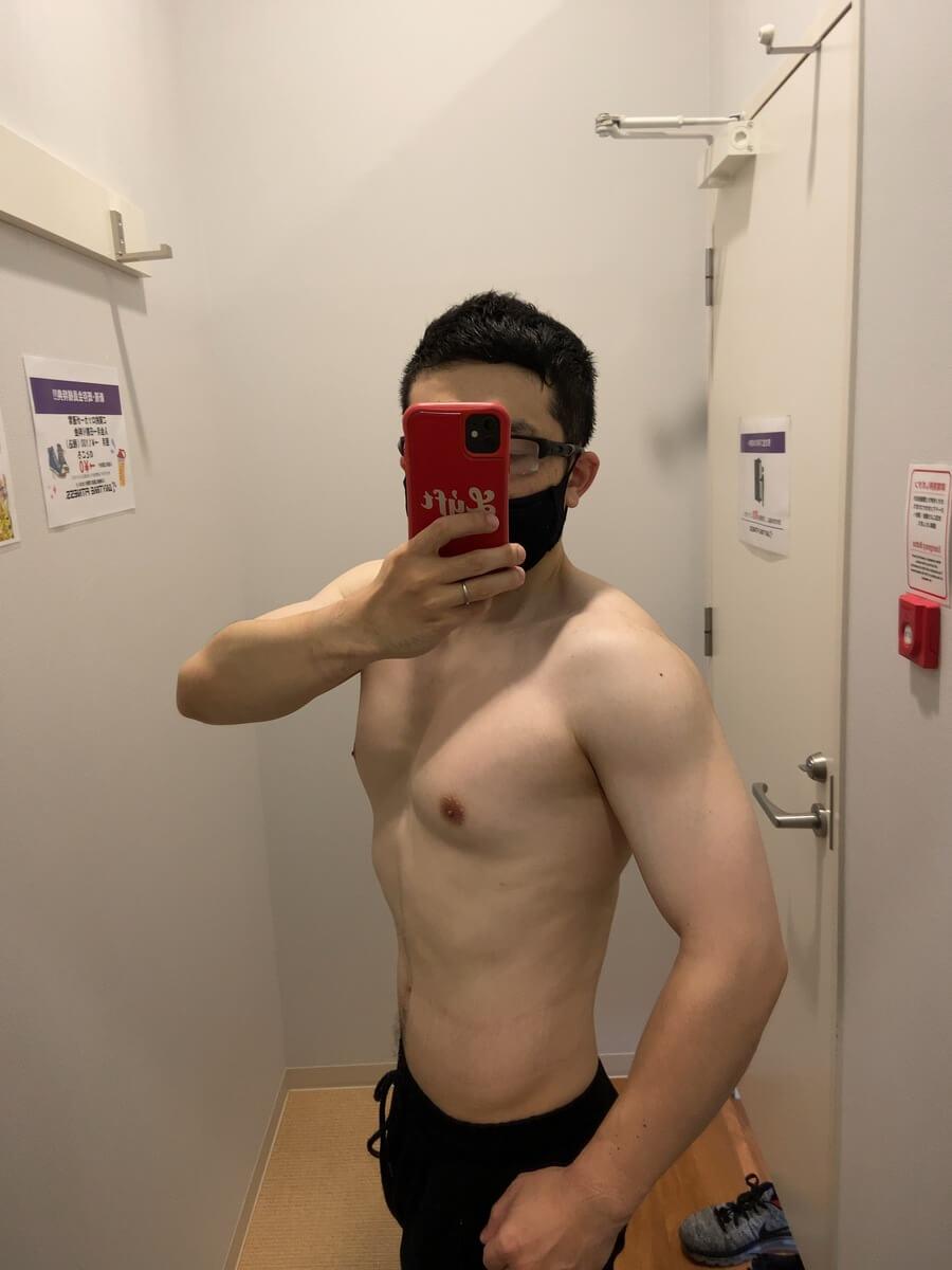 HIITダイエット5週目の体型写真側面