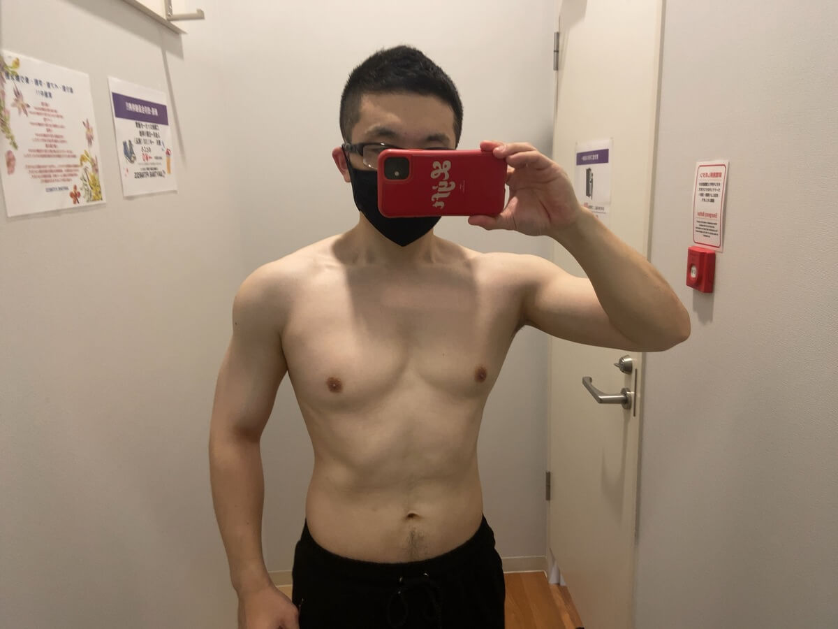 HIITダイエット7週目の体型写真正面