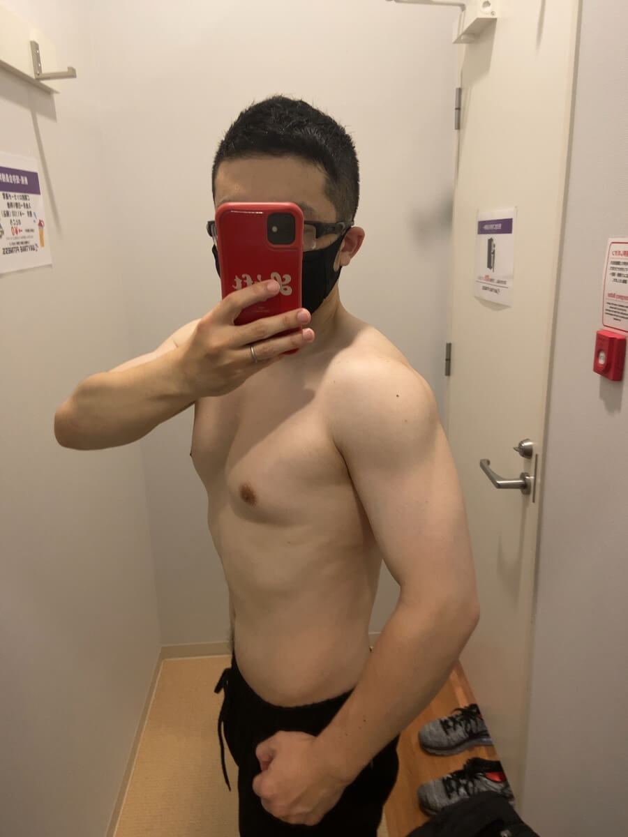 HIITダイエット7週目の体型写真側面