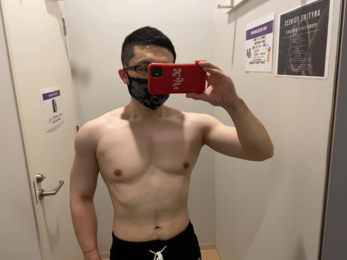 HIITダイエット8週目の体型写真正面