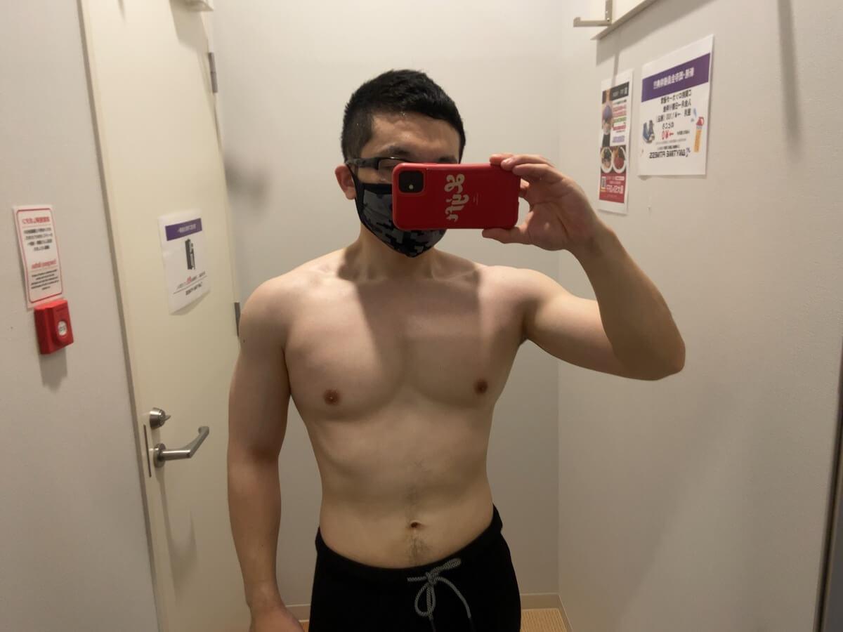 HIITダイエット9週目の体型写真正面