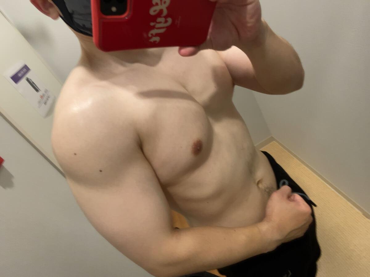 HIITダイエット9週目の筋肉写真
